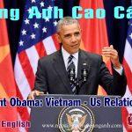 Bài diễn văn của Obama trong chuyến thăm Việt Nam