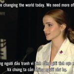 Emma Watson phát biểu về bình đẳng giới