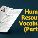Tiếng Anh chuyên ngành: Từ Vựng Tiếng Anh chuyên ngành Quản Trị Nhân Sự Phần 1