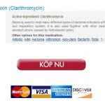 LA?g Kostnad Clarithromycin 250 mg InkA�p :: BA�st Betyg PA? NA�tetapotek :: 24h PA? nA�tet stA�dtjA�nsten