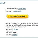 Lamisil Luxembourg / Airmail Livraison / Remise